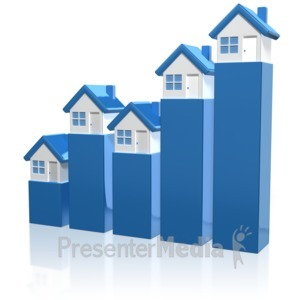 ID# 12473 - House Market Graph - Presentation Clipart