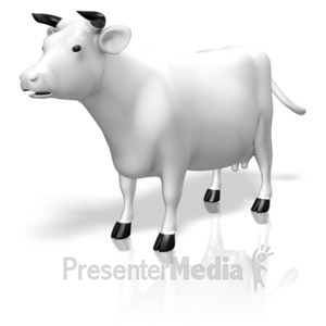 ID# 12487 - Cow - Presentation Clipart