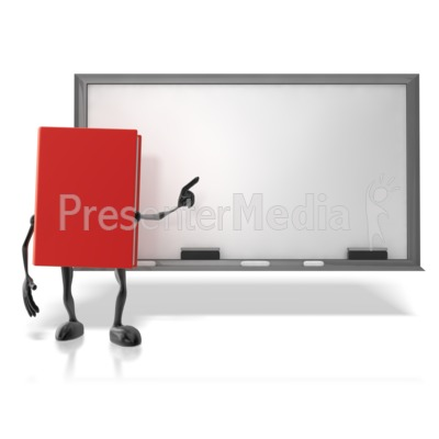 Book At Chalk Board PowerPoint Clip Art