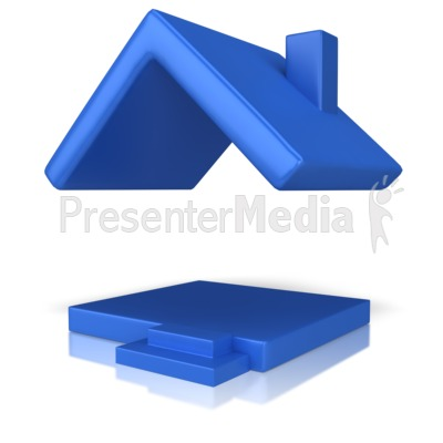 House With Just A Roof Presentation Clipart Great