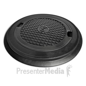 ID# 12508 - Top Lid Of Sewer - Presentation Clipart