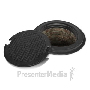 ID# 12516 - Sewer Lid Off - Presentation Clipart