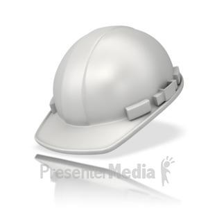 ID# 12519 - Plain White Hardhat - Presentation Clipart