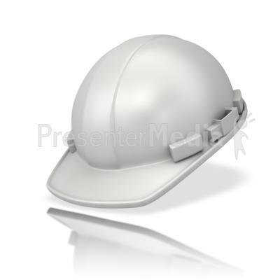 Plain White Hardhat PowerPoint Clip Art