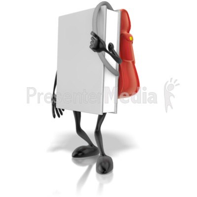 Book With Backpack PowerPoint Clip Art