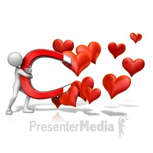 ID# 12552 - Love Magnet - Presentation Clipart