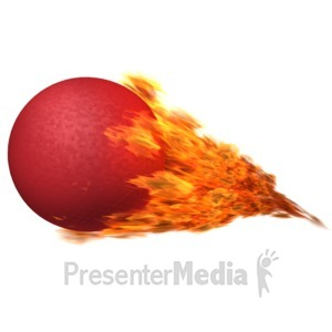 ID# 12561 - Dodgeball Flaming - Presentation Clipart