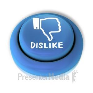 ID# 12578 - Dislike Down Button - Presentation Clipart