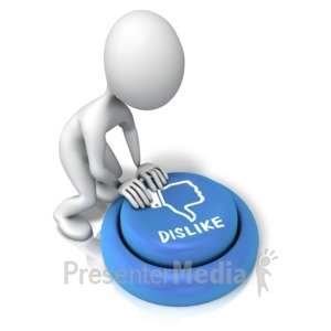 ID# 12579 - Figure Pushing Dislike Button - Presentation Clipart