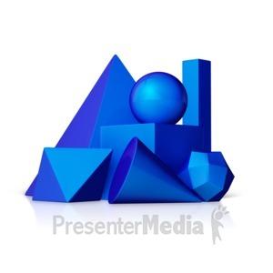 ID# 12598 - Geometric Shapes - Presentation Clipart
