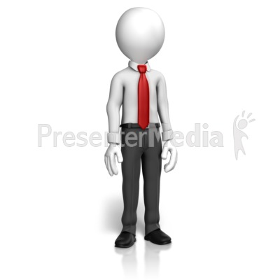 Man Shirt Tie Standing PowerPoint Clip Art
