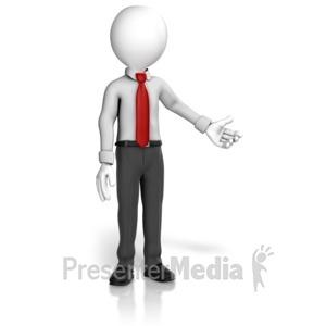 ID# 12614 - Man Professional Presenting - Presentation Clipart