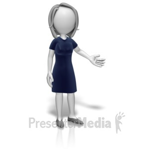 ID# 12616 - Woman Professional Presenting - Presentation Clipart