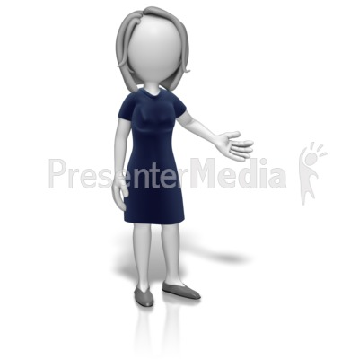 Woman Professional Presenting PowerPoint Clip Art