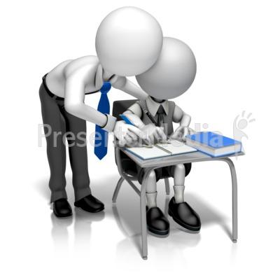 Man Teacher Helping PowerPoint Clip Art