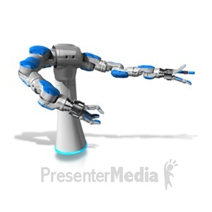 ID# 12627 - Mechanical Robol Gesturing - Presentation Clipart
