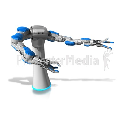 Mechanical Robol Gesturing PowerPoint Clip Art