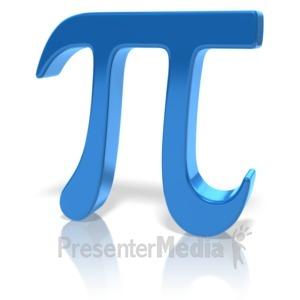 ID# 12661 - Pi Symbol - Presentation Clipart