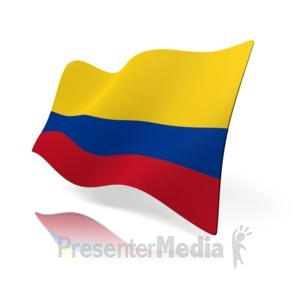 ID# 12667 - Colombia Flag - Presentation Clipart