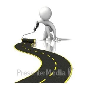 ID# 12685 - Figure Painting Street - Presentation Clipart