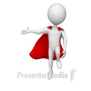 ID# 12694 - Superhero Gesturing - Presentation Clipart