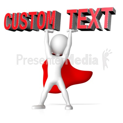 Super Hero Lifting Text PowerPoint Clip Art