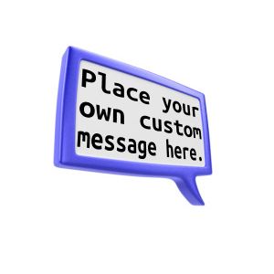 ID# 12722 - Custom Square Discussion Box - Presentation Clipart