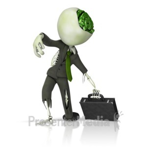 ID# 12773 - Business Zombie - Presentation Clipart