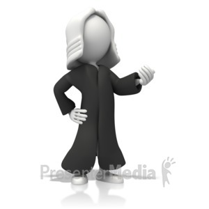 ID# 12812 - Judge With Robe - Presentation Clipart