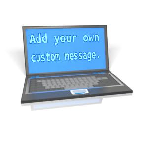 ID# 12814 - Laptop Custom Screen - Presentation Clipart