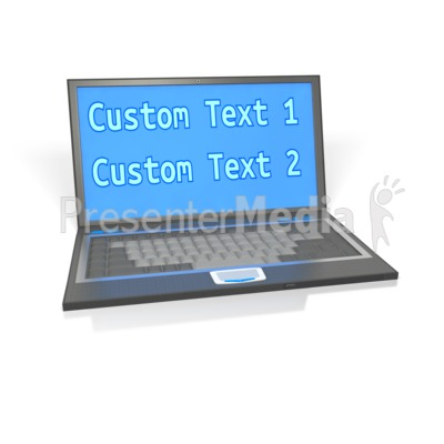 Laptop Custom Screen PowerPoint Clip Art