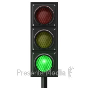 ID# 12839 - Traffic Light Green Front - Presentation Clipart