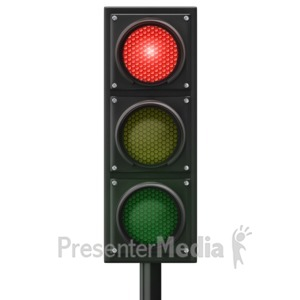 ID# 12841 - Traffic Light Red Front - Presentation Clipart