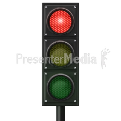 Traffic Light Red Front PowerPoint Clip Art
