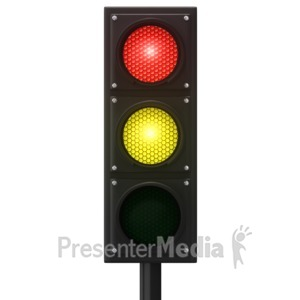 ID# 12882 - Europeon Traffic Light - Presentation Clipart