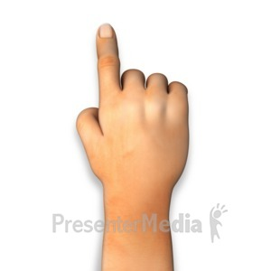 ID# 12891 - Human Hand Finger Point - Presentation Clipart