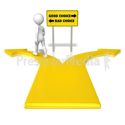 Figure Bad Choice PowerPoint Clip Art