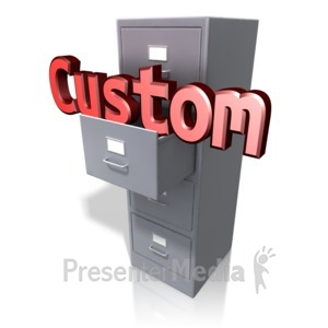 ID# 12928 - Office Cabinet Custom Text - Presentation Clipart