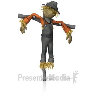 ID# 12932 - Scarecrow Figure - Presentation Clipart