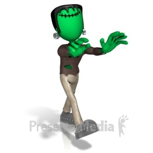 ID# 12951 - Monster Gonna Get Ya - Presentation Clipart