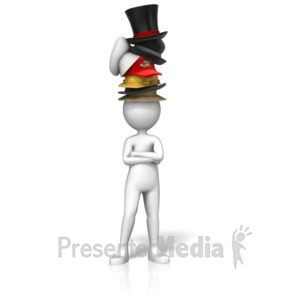 ID# 12992 - Sporting Many Hats - Presentation Clipart