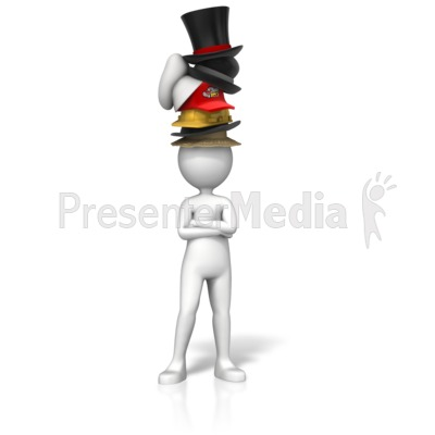 Sporting Many Hats PowerPoint Clip Art