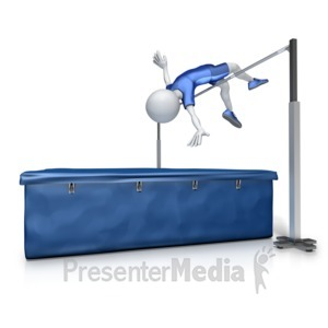 ID# 12997 - Male High Jump - Presentation Clipart
