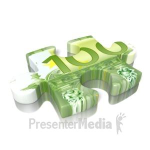 ID# 13001 - Euro Puzzle Piece - Presentation Clipart