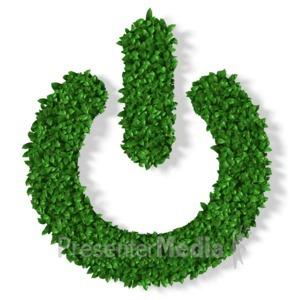 ID# 13016 - Grass Power Symbol - Presentation Clipart