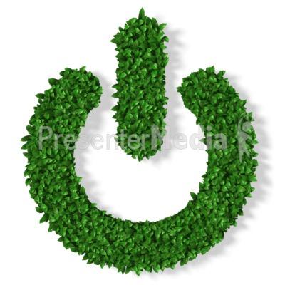 Grass Power Symbol PowerPoint Clip Art