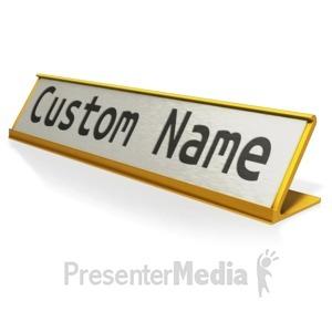 ID# 13019 - Custom Name Plate - Presentation Clipart