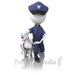 ID# 13024 - K-9 Officer - Presentation Clipart