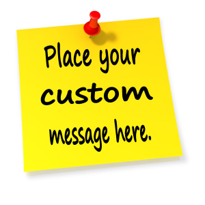 ID# 13032 - Custom Thumbtack Note - Presentation Clipart
