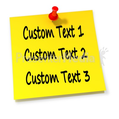 Custom Thumbtack Note PowerPoint Clip Art